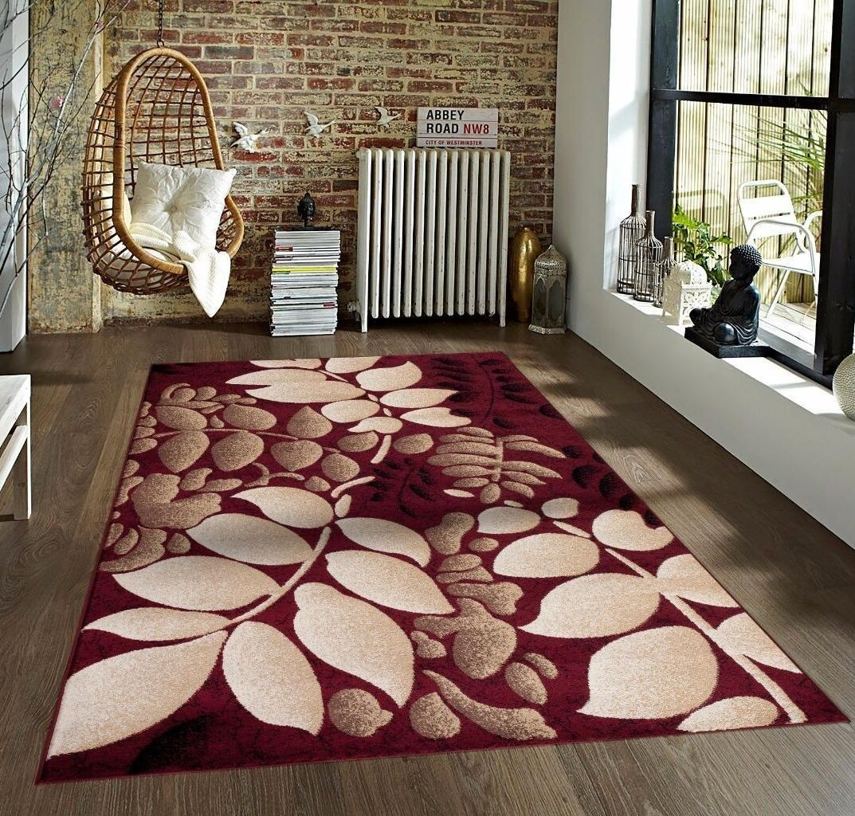 Alanson Burgundy Indoor/Outdoor Area Rug Rug Size: 5' x 7'