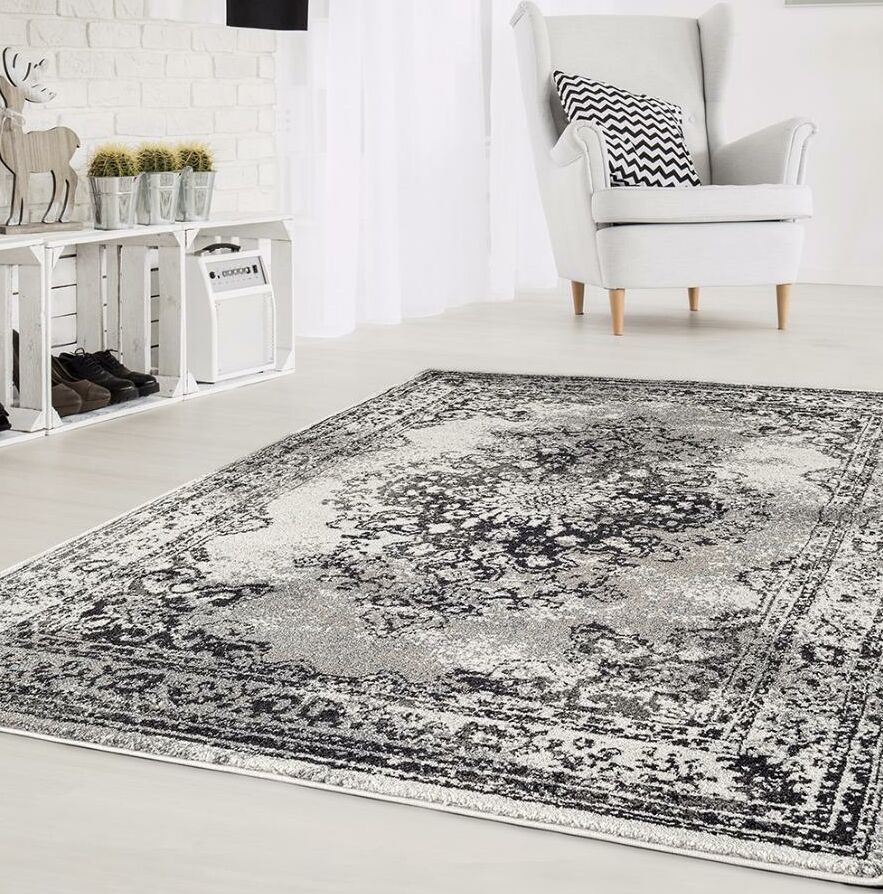 Gries Oriental Anthracite Area Rug Rug Size: Rectangle 7'10