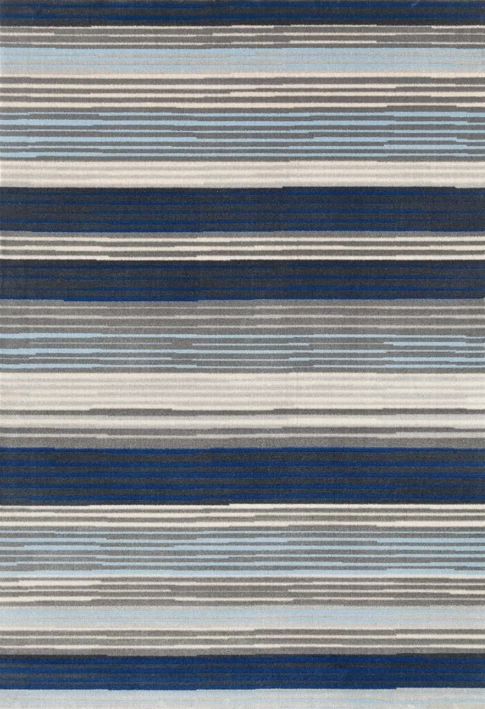 Barraclough Modern Blue/Gray Area Rug Rug Size: Rectangle 5'2'' x 7'2''