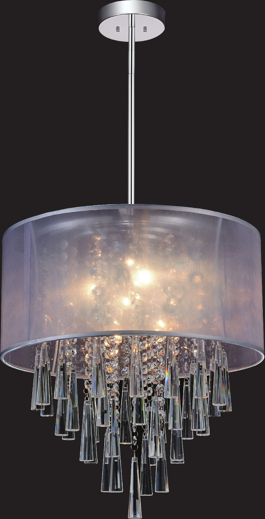 6-Light Pendant Shade Color: Silver