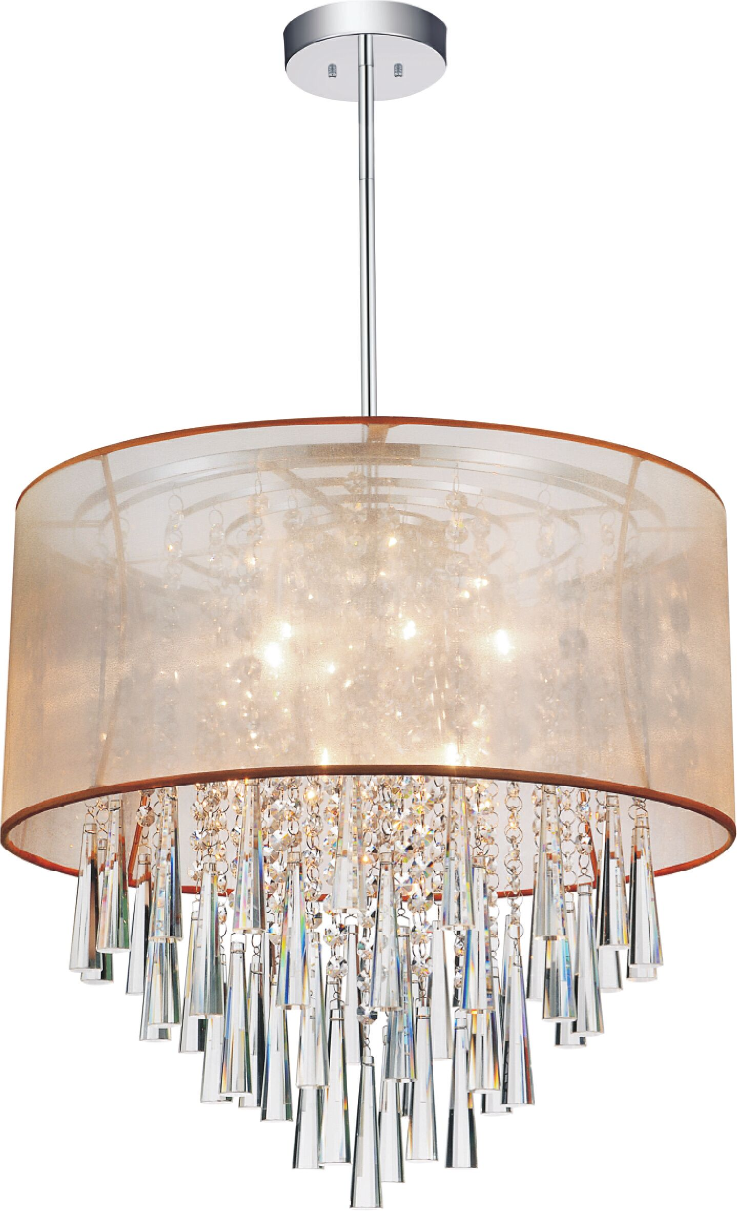 8-Light Pendant Shade Color: Gold