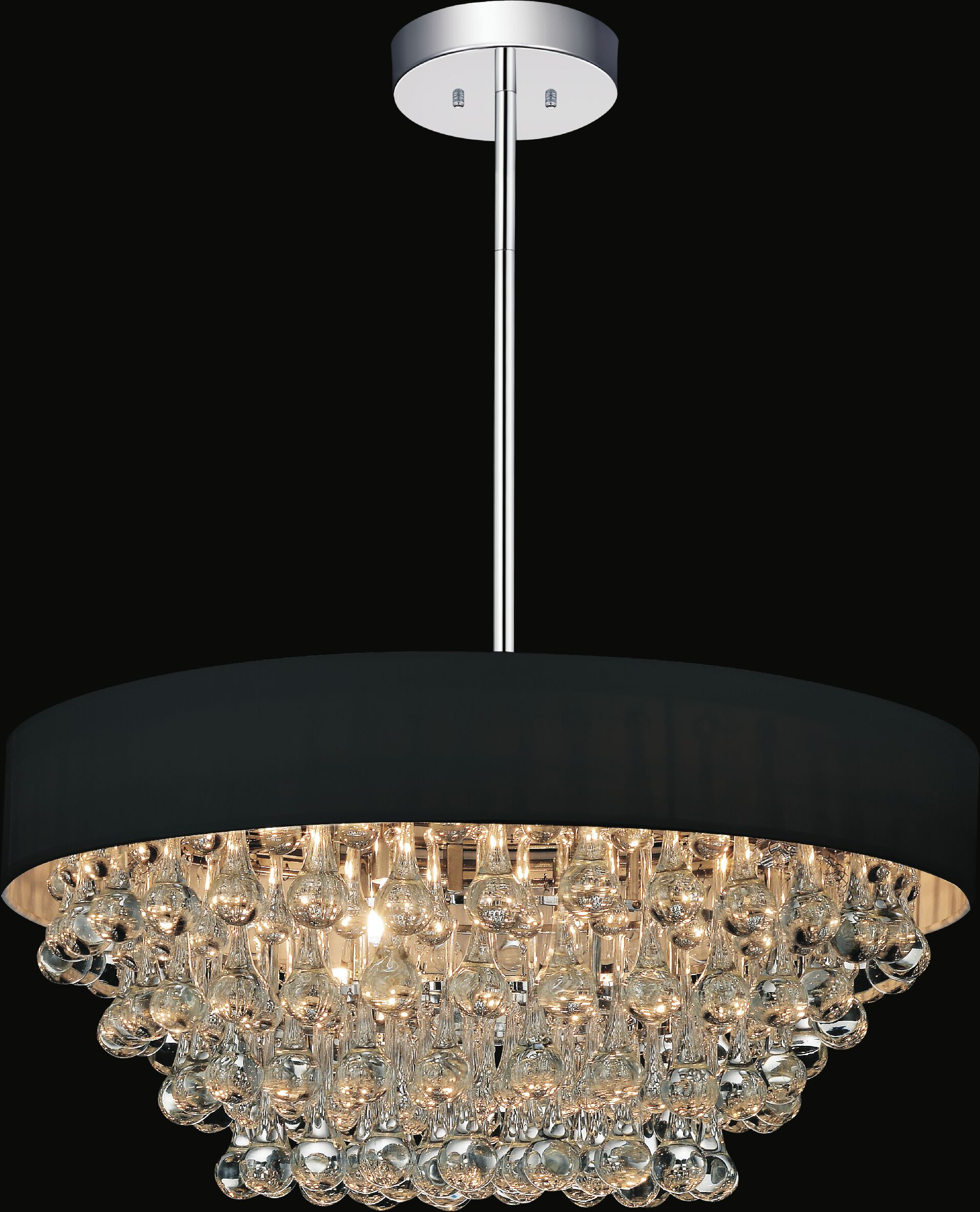 8-Light Chandelier Shade Color: Black