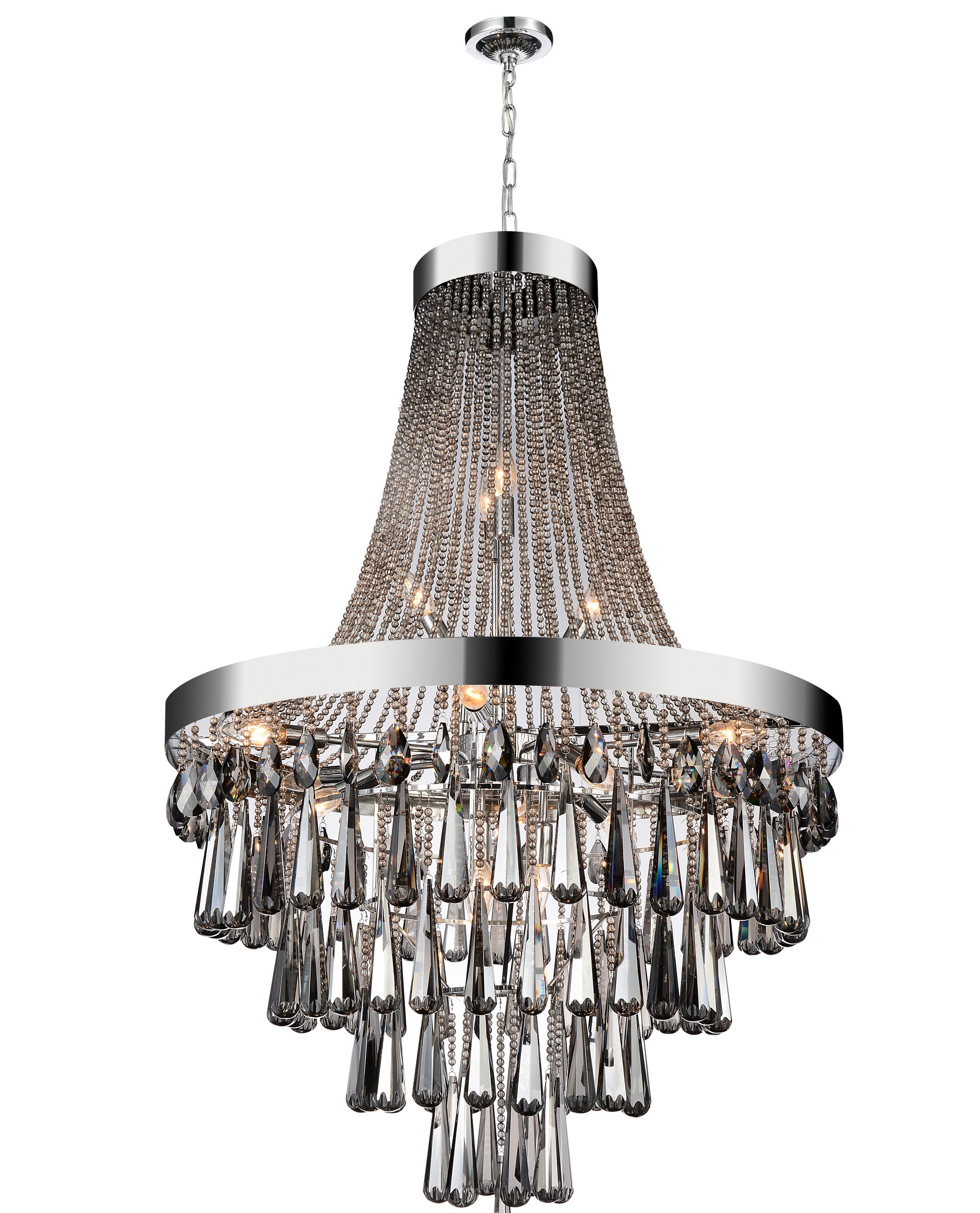 Vast 17-Light Chandelier Crystal Color: Smoke