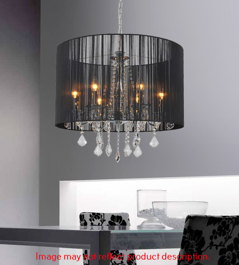 6-Light Pendant Shade Color: Black