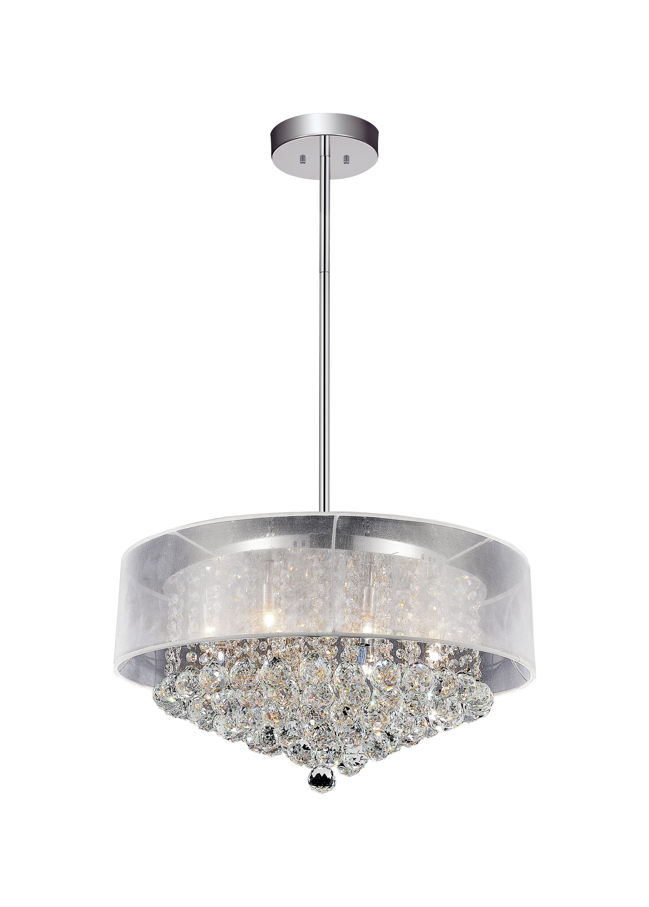 12-Light Pendant Shade Color: Clear White