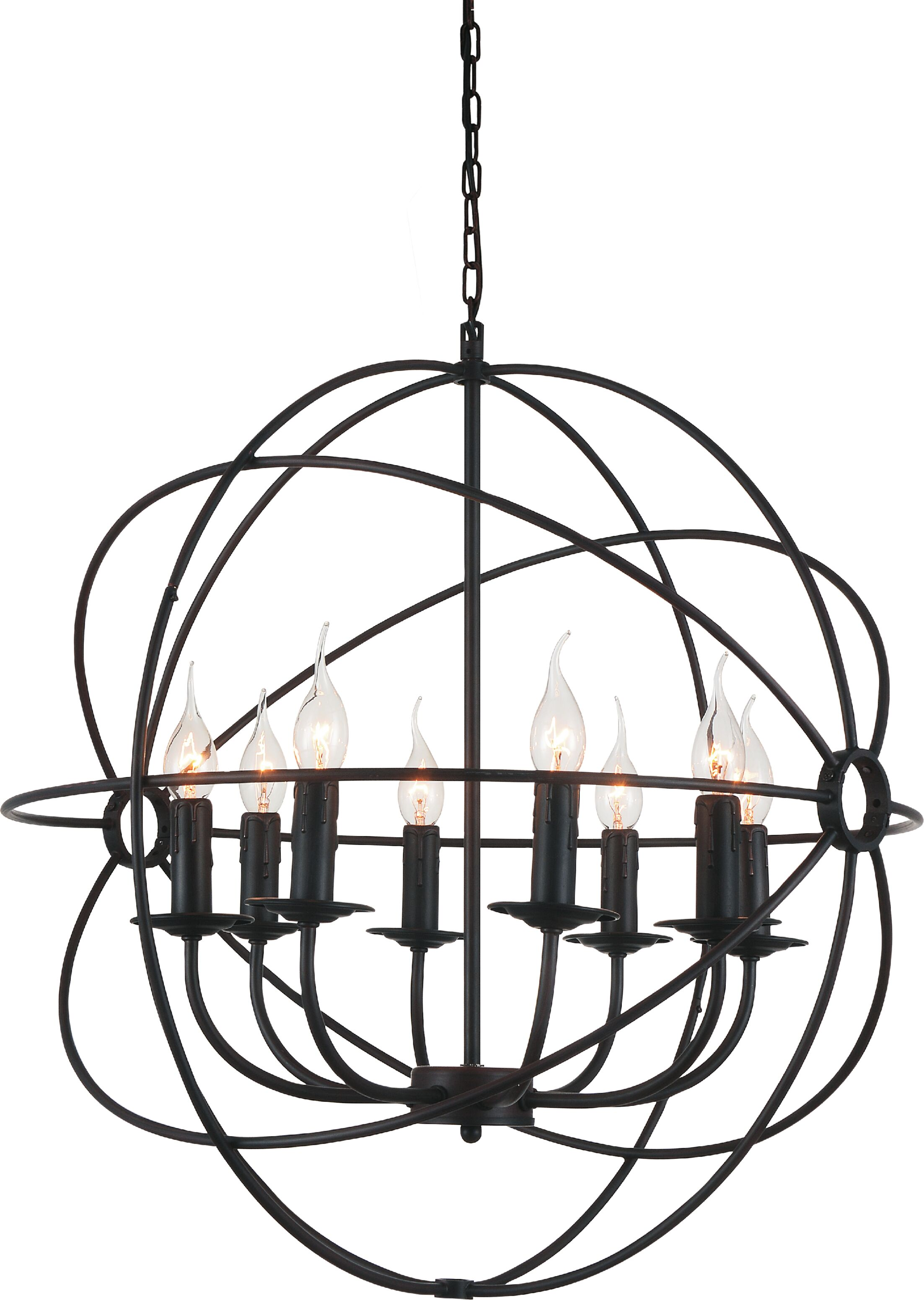 Margo 8-Light Candle-Style Chandelier Size: 26