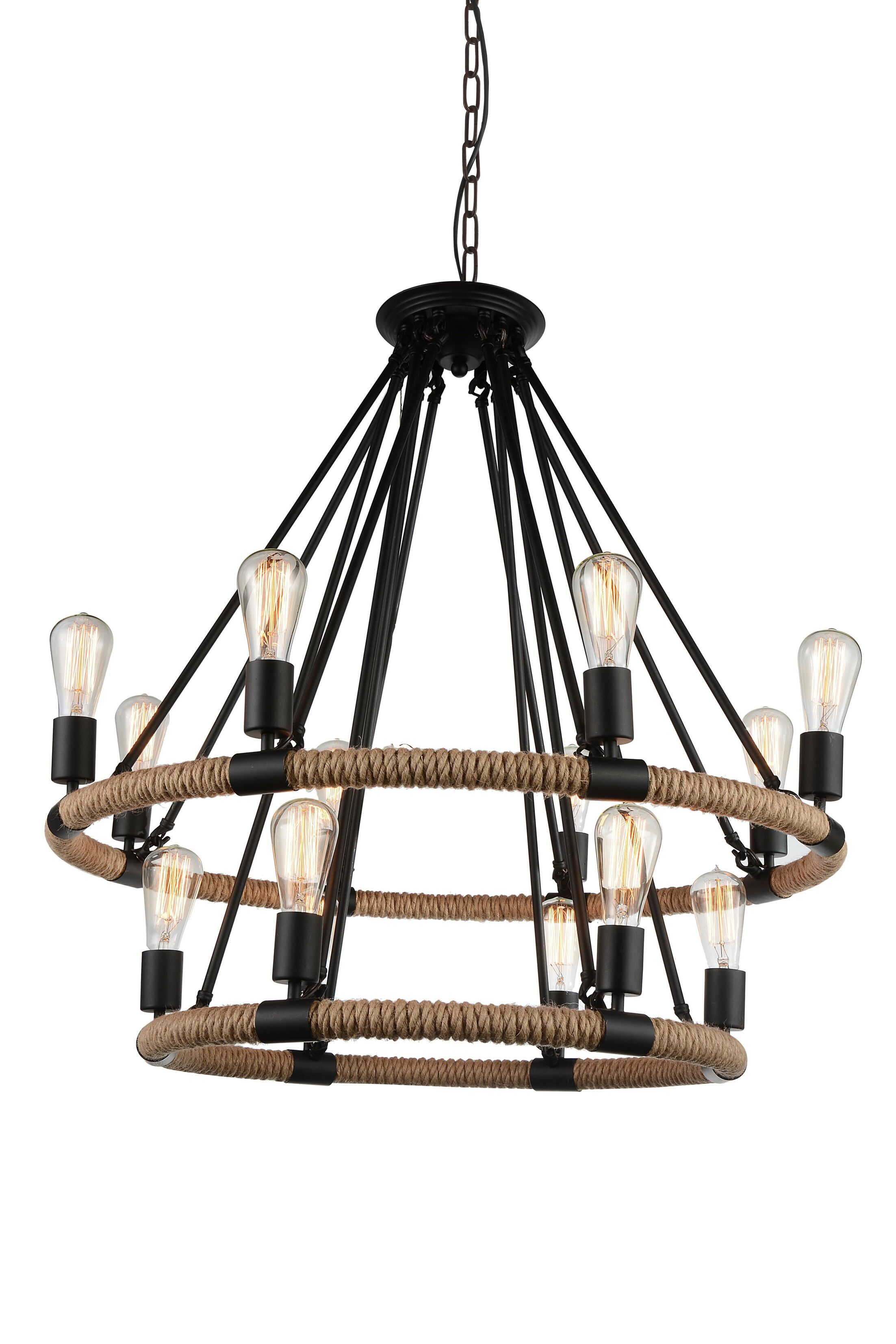 Inyo 14-Light Wagon Wheel Chandelier