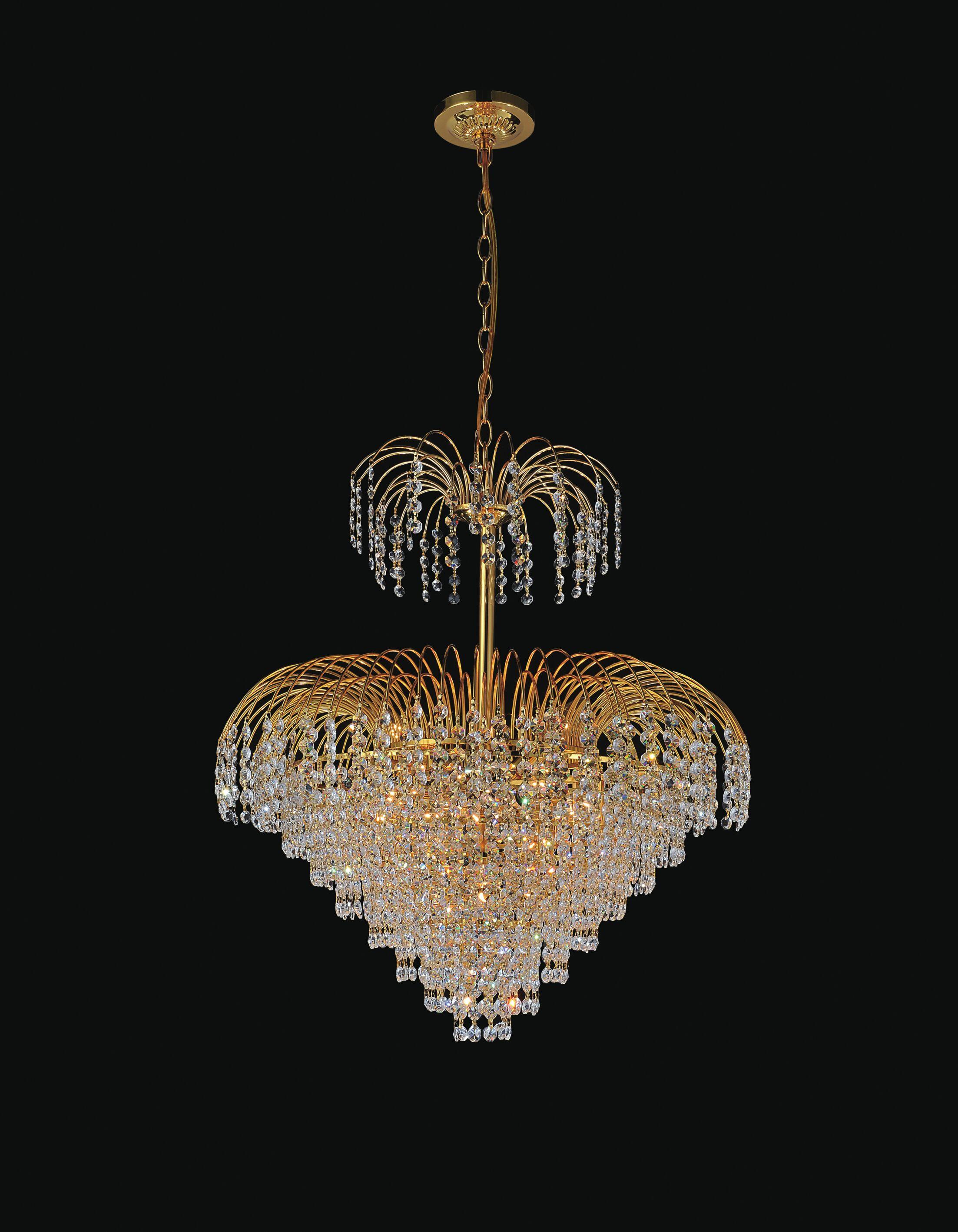 Palm Tree 11-Light Chandelier Finish: Gold