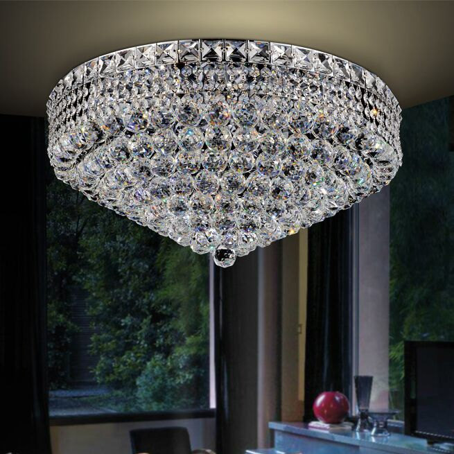 Luminous Flush Mount Finish: Chrome, Size: 11.5