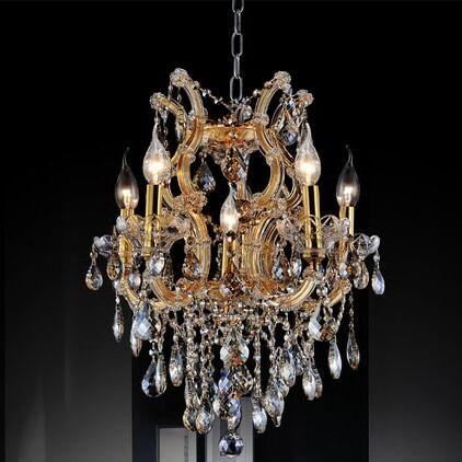 Orr Crystal 6-Light Chandelier Crystal Color: Clear