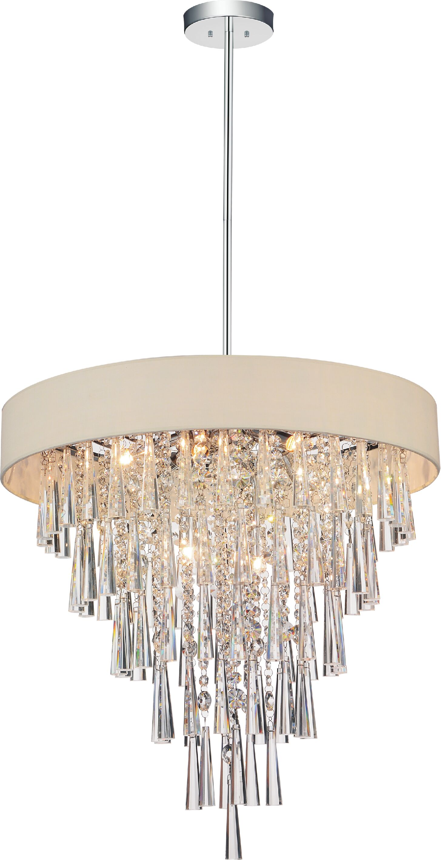 Chenai 8-Light Drum Chandelier Finish: Beige