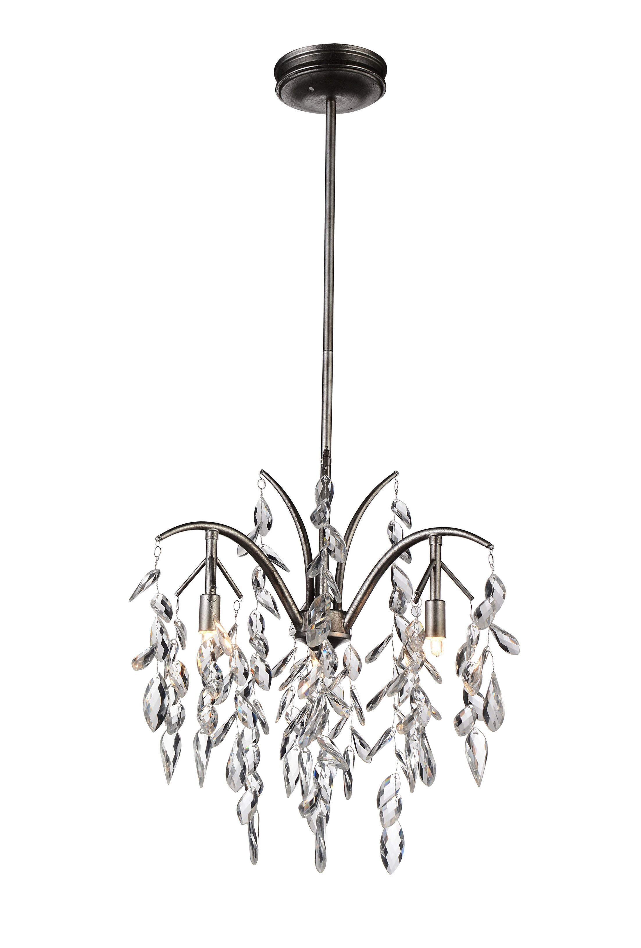 Napan 3-Light Crystal Chandelier