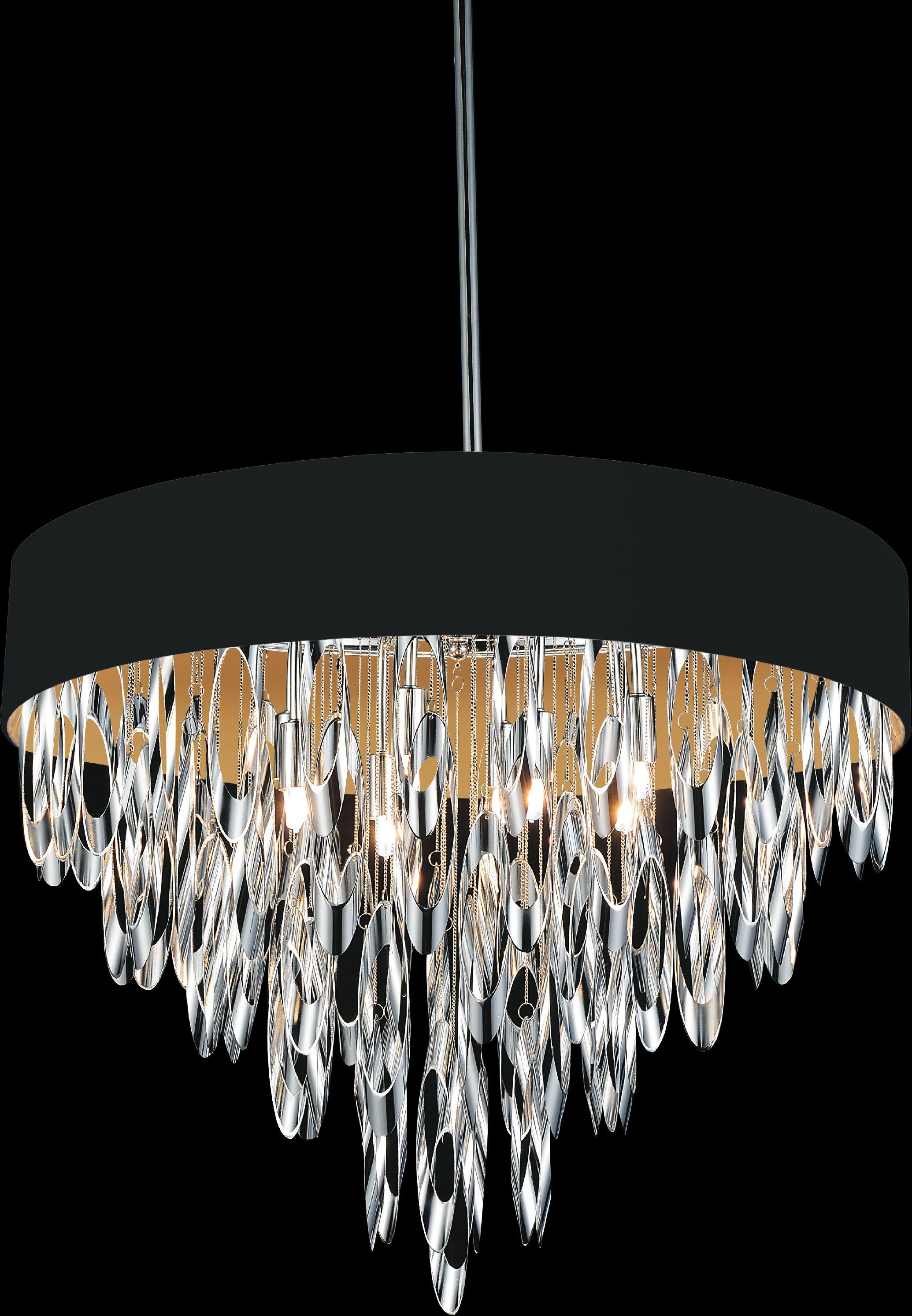Excel 8-Light Drum Chandelier Shade Color: Black