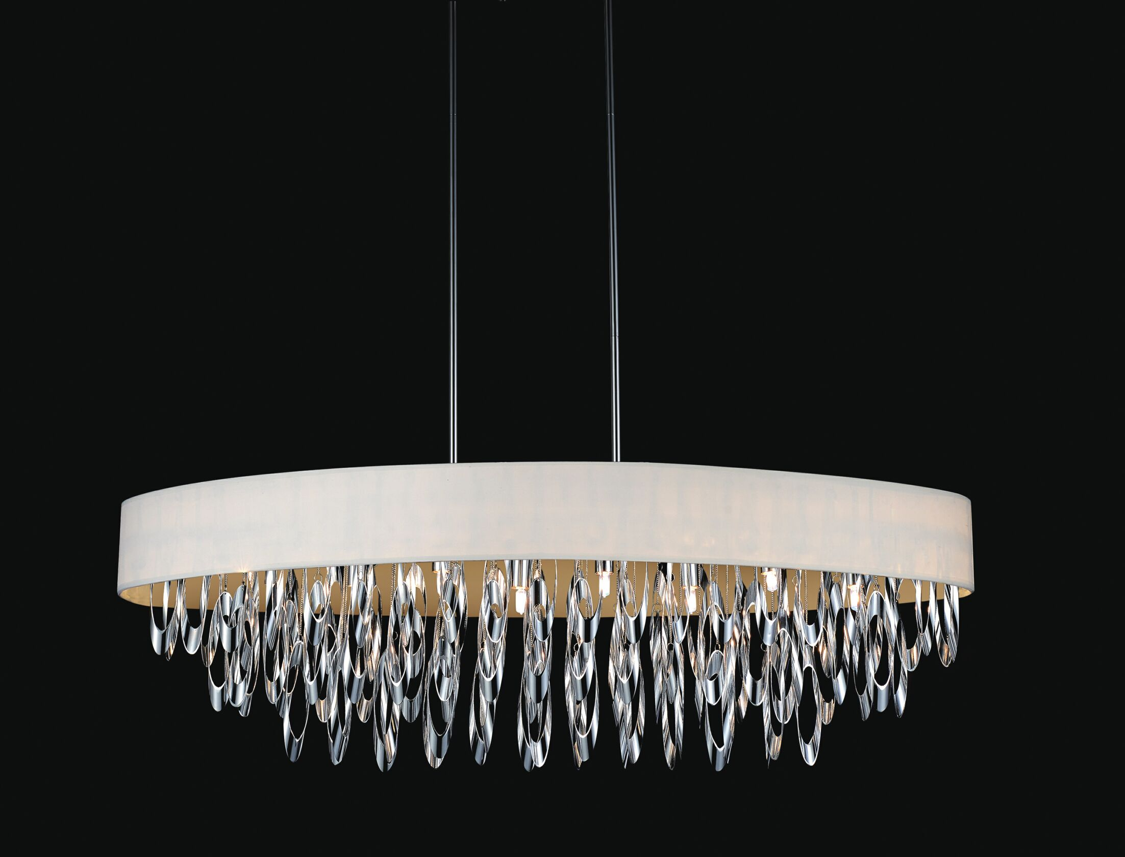 Excel 8-Light Drum Chandelier Shade Color: White