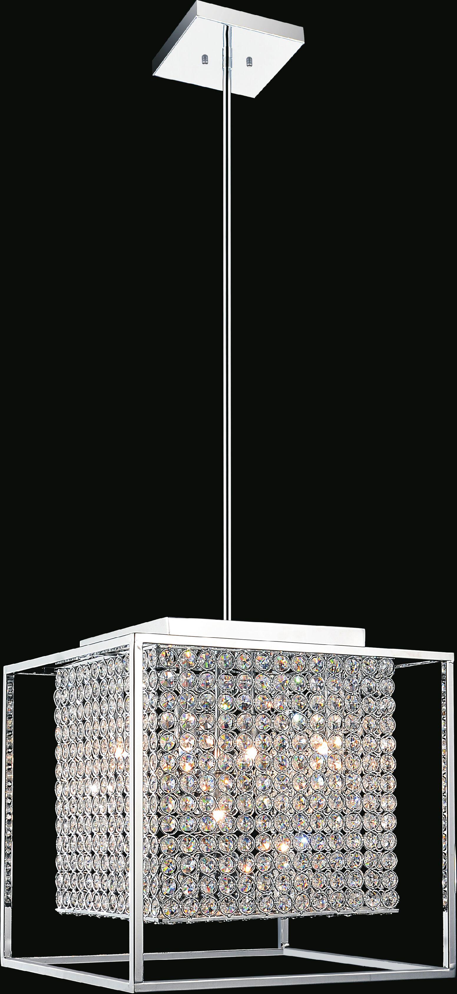 Cube 5-Light Square/Rectangle Chandelier
