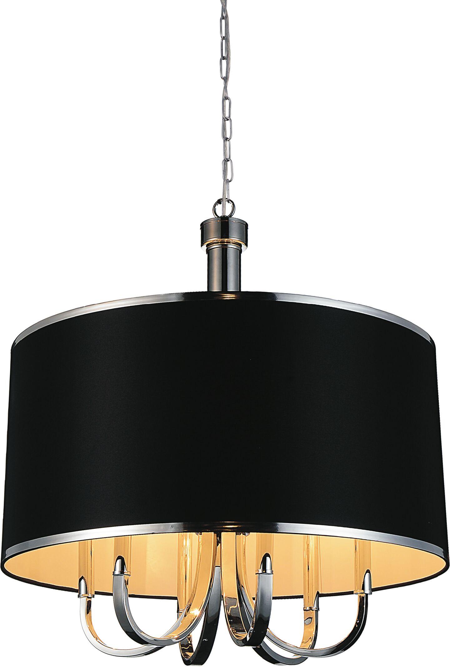 Orchid 6-Light Chandelier Shade Color: Black