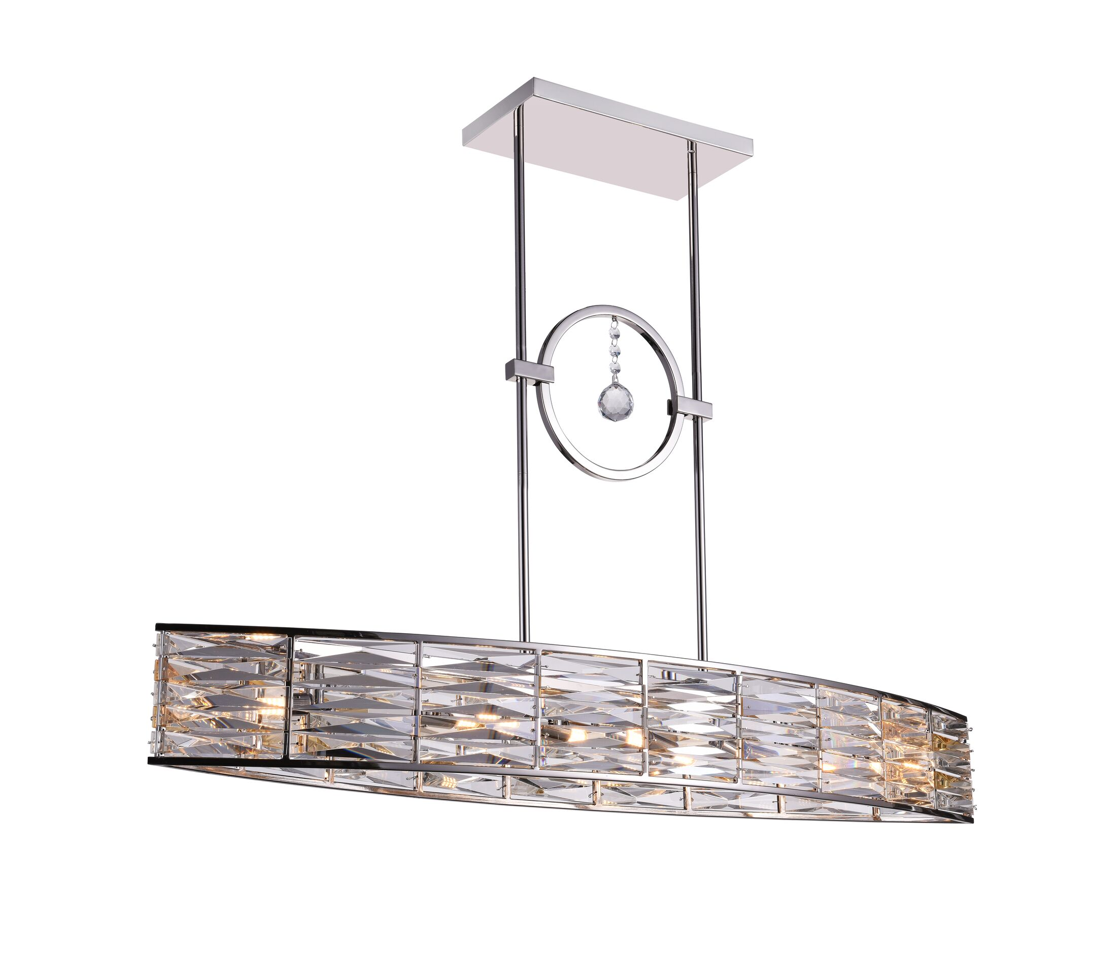 Squill 6-Light LED Crystal Chandelier