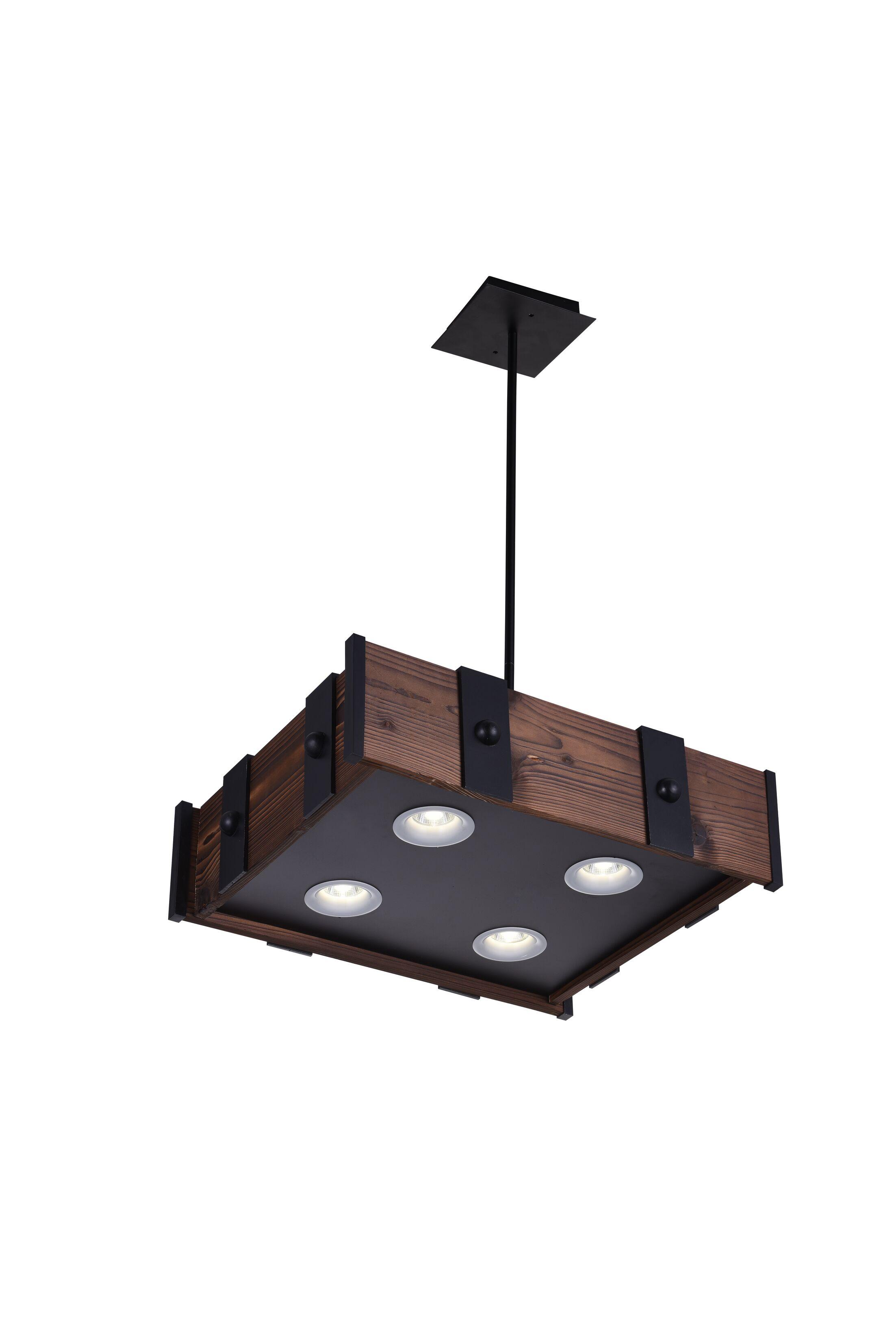 Ruby 4-Light LED Drum Chandelier