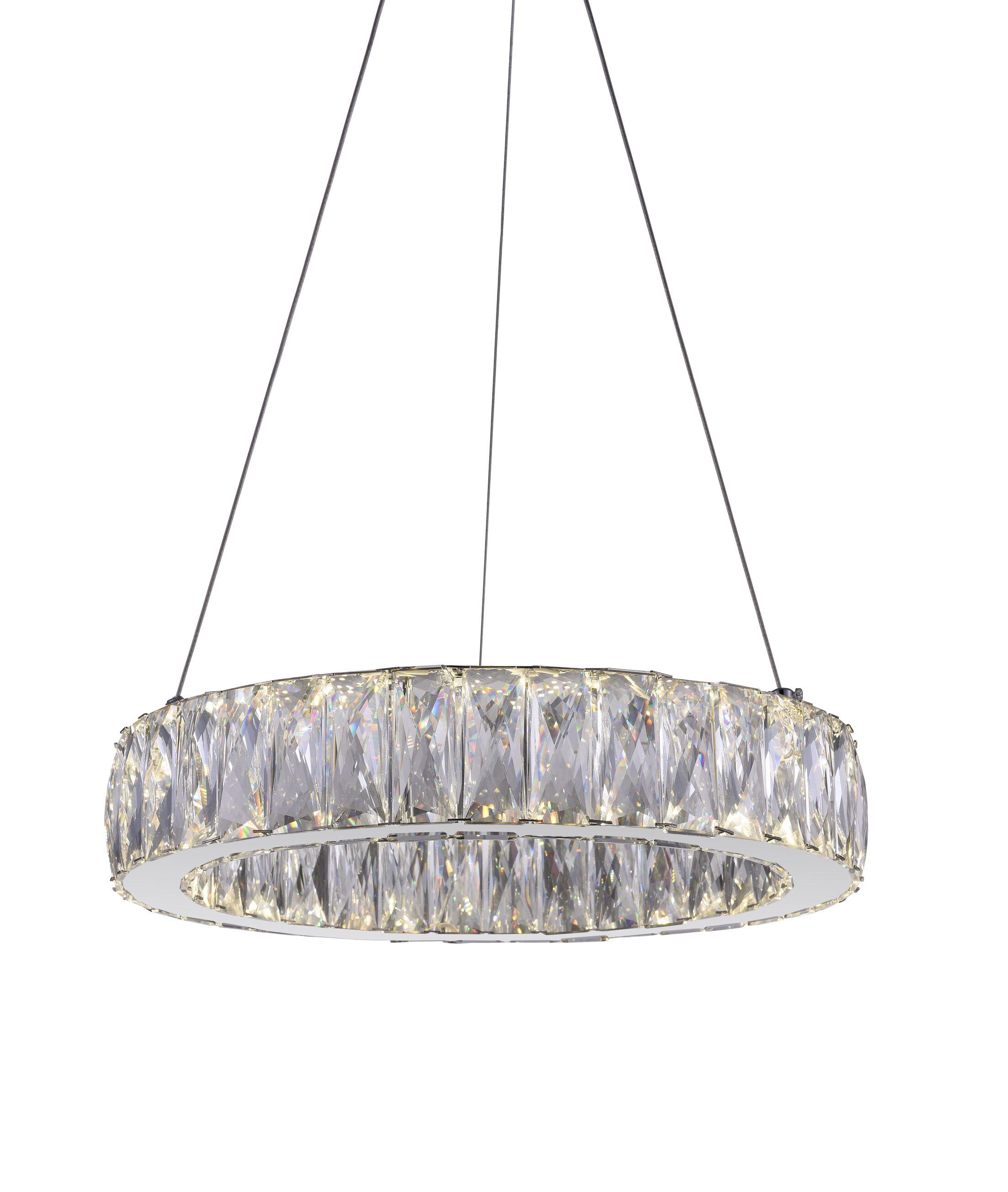 Juno 1-Light  LED Crystal Pendant Size: 5