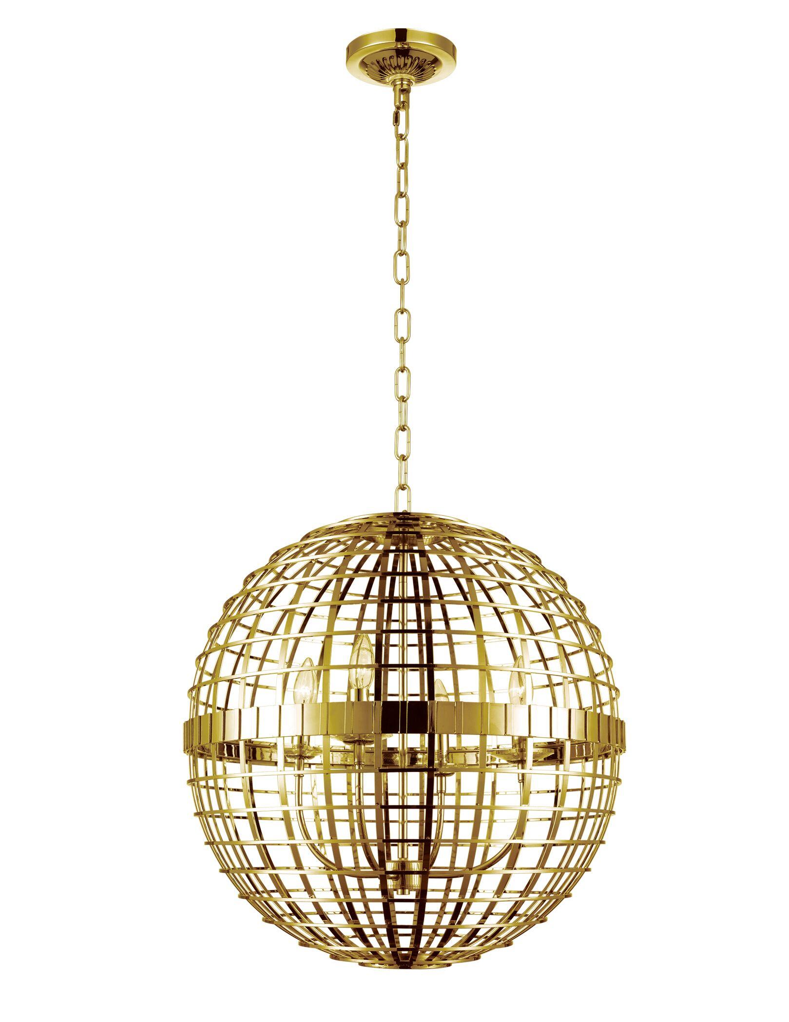 Niya 4-Light Pendant Finish: Gold