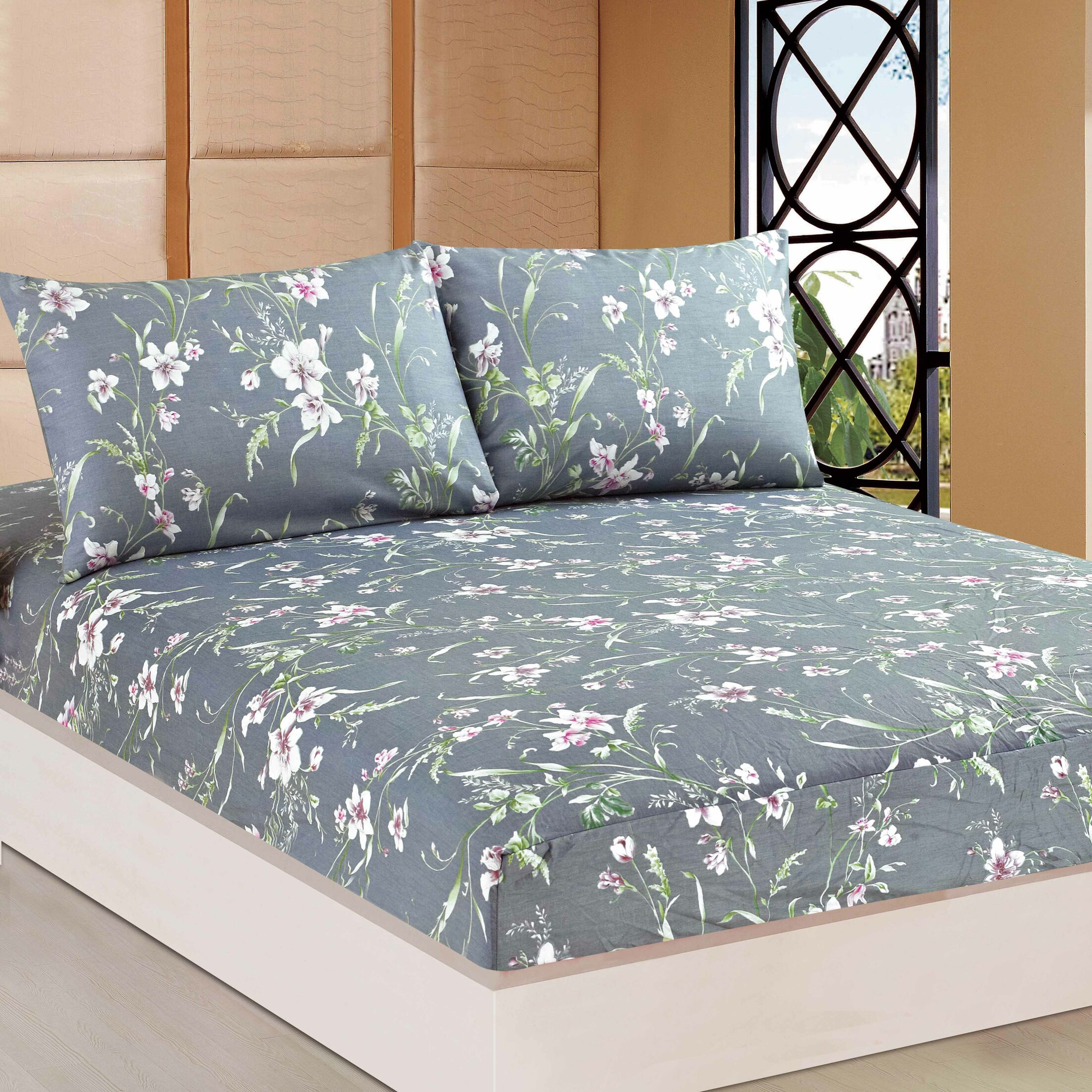 Boska 1000 Thread Count 100% Cotton Fitted Sheet Size: Queen
