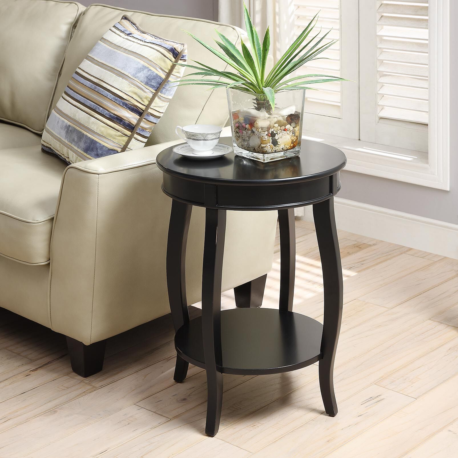 Yvonne End Table Color: Antique Black