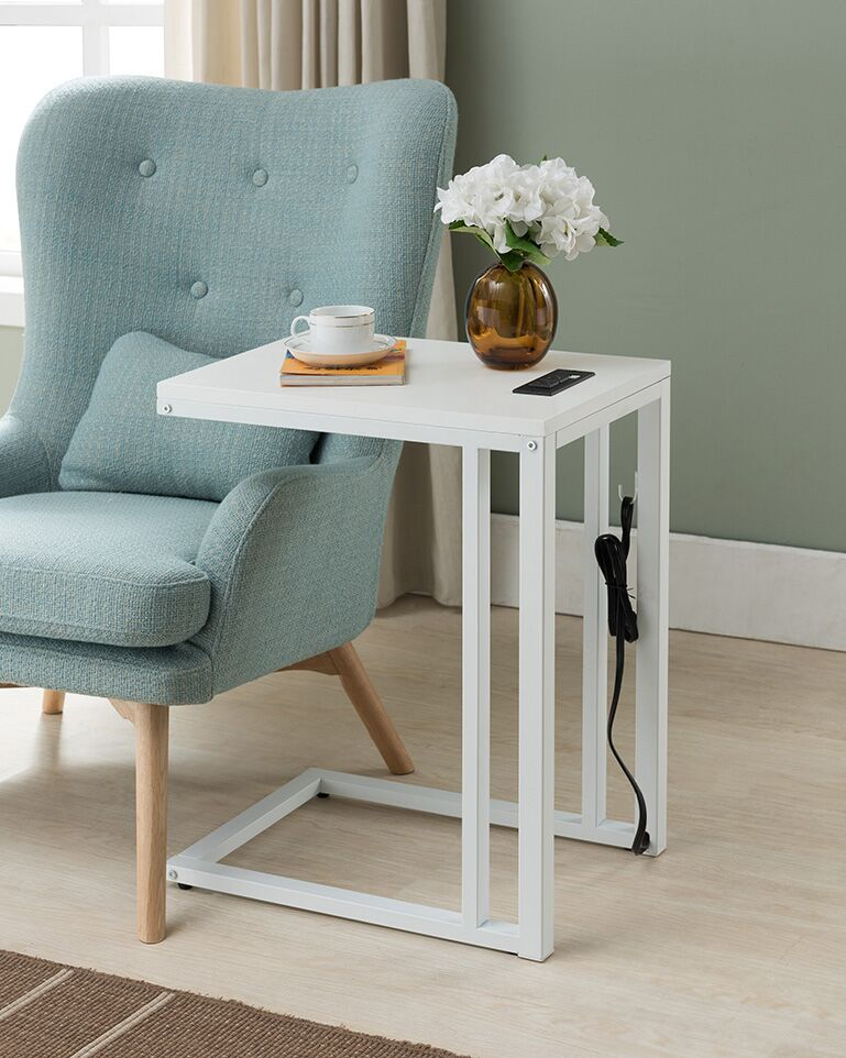 Blankenship End Table Color: White