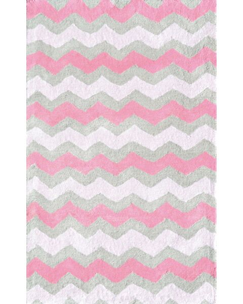 Handmade Pink and Gray Area Rug Rug Size: Rectangle 2'8