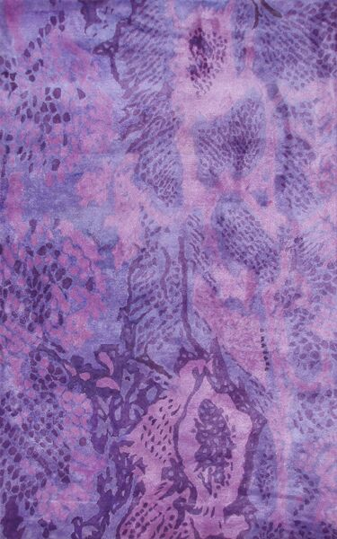 Uma Handmade Purple Area Rug Rug Size: 8' x 11'