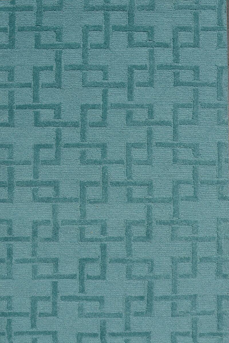 Handmade Green Area Rug Rug Size: 4'7