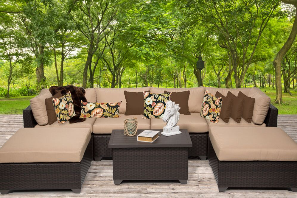 Belle 7 Piece Sectional Set with Cushions Fabric: Wheat