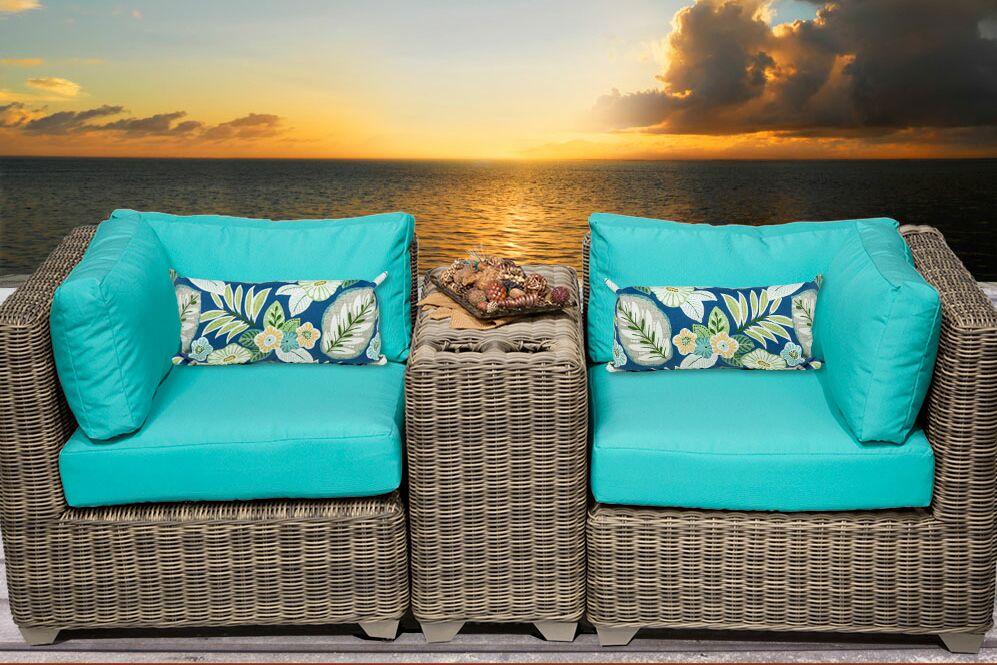 Cape Cod 3 Piece Conversation Set with Cushions Fabric: Aruba