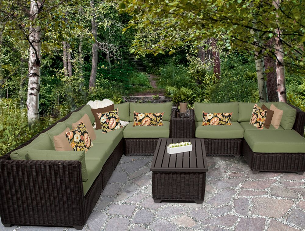 Eldredge 10 Piece Sectional Set with Cushions Color: Cilantro