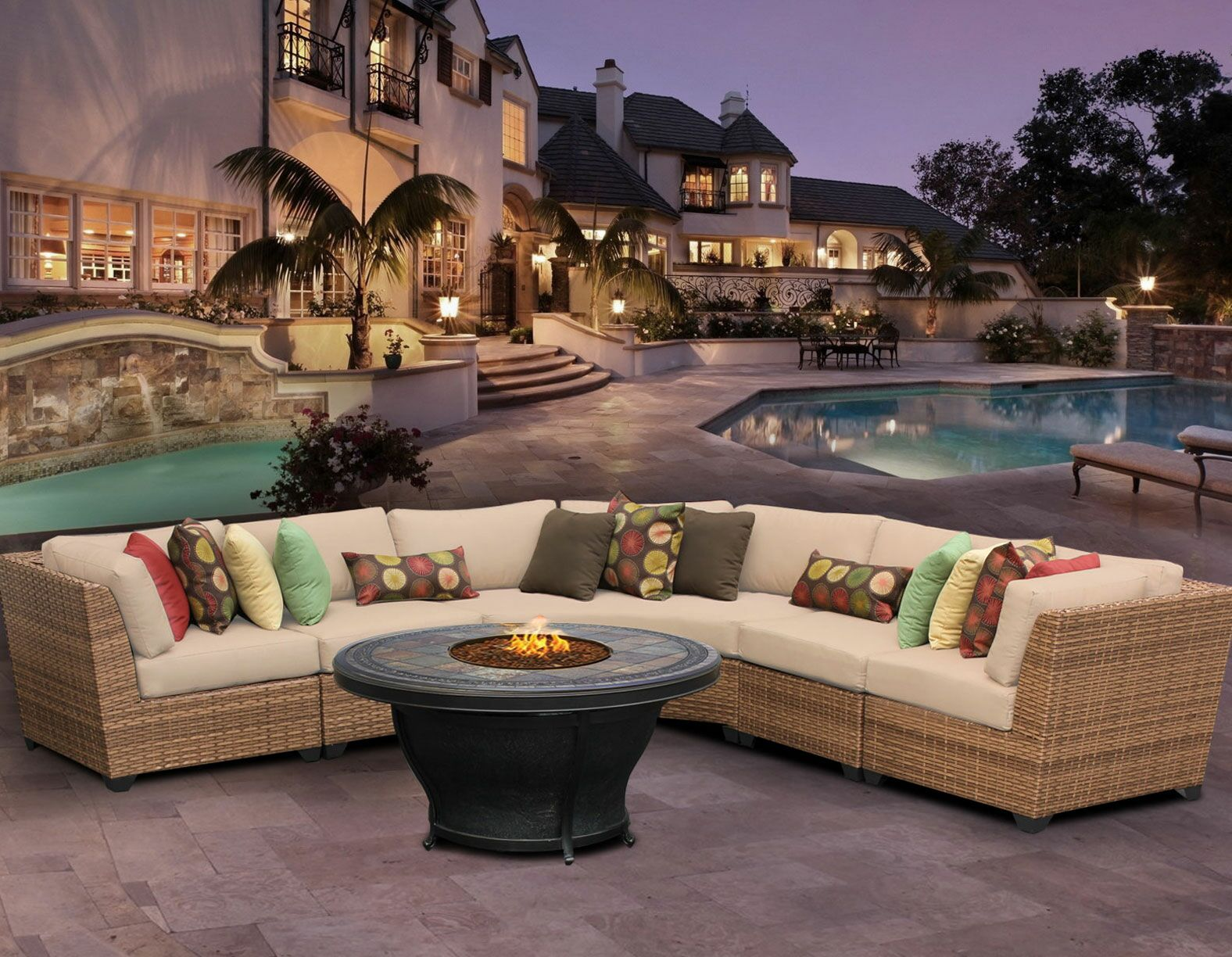 East Village 6 Piece Sectional Set With Cushions Color: Wheat