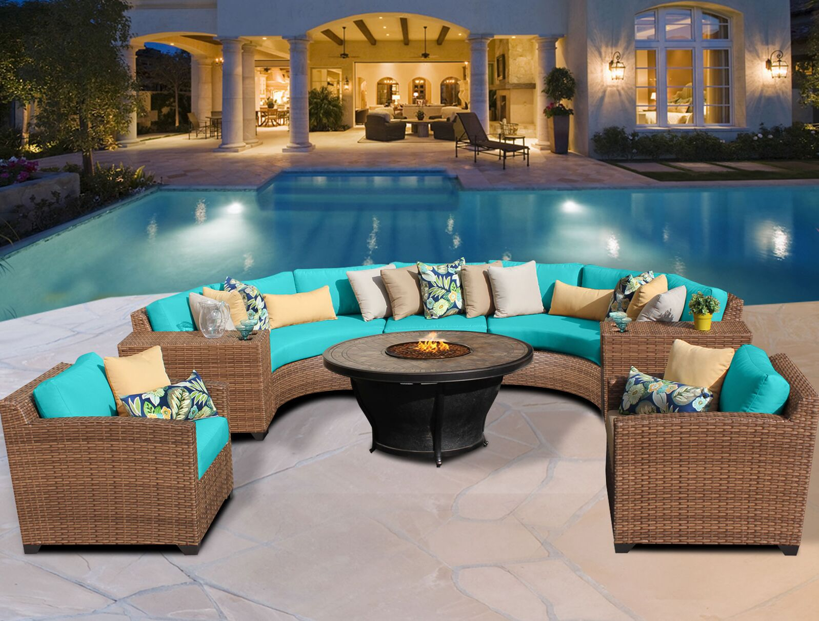 East Village 8 Piece Sectional Set with Cushions Color: Gray