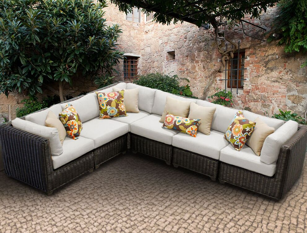 Eldredge Sofa With Cushions Color: Beige