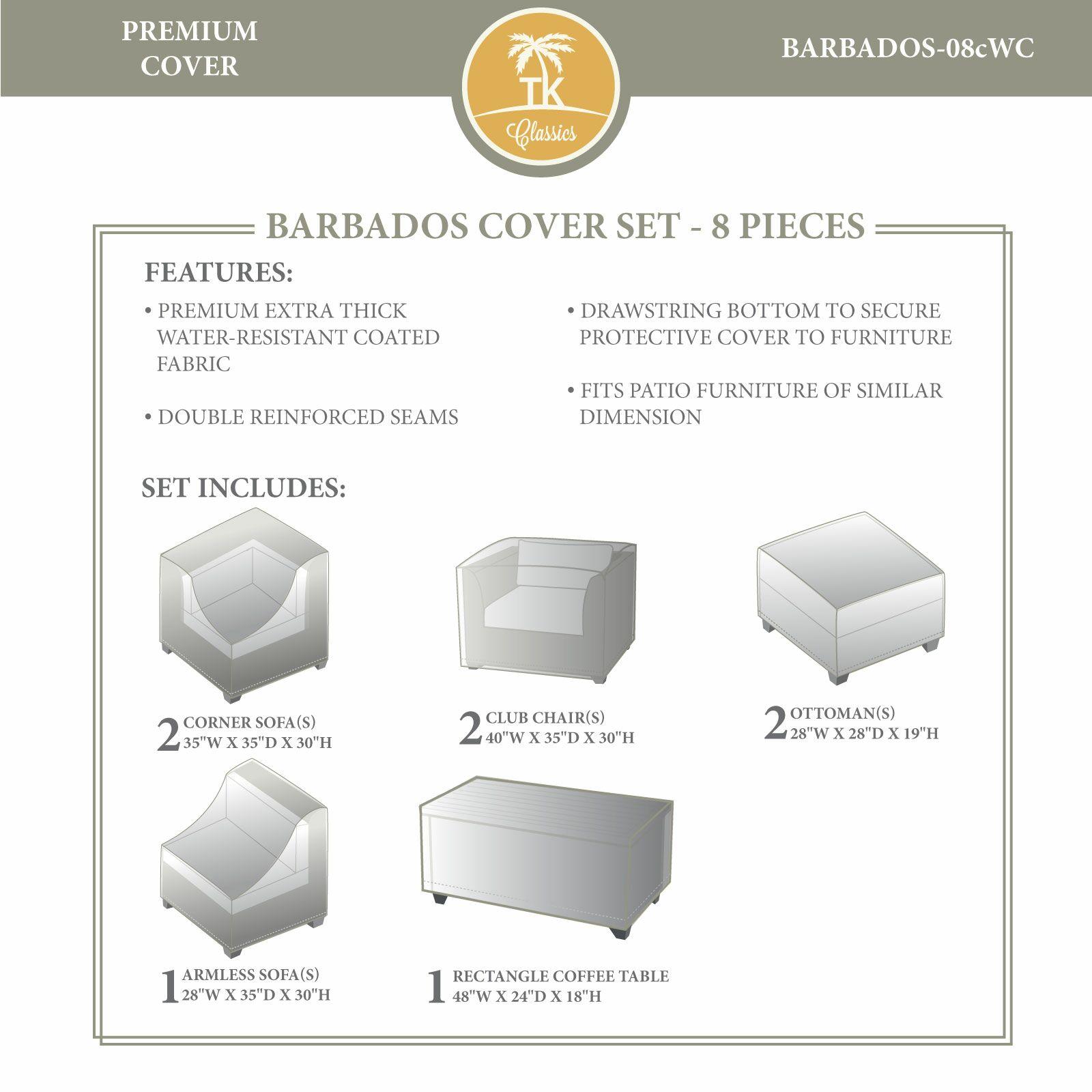 Barbados Winter 8 Piece Cover Set