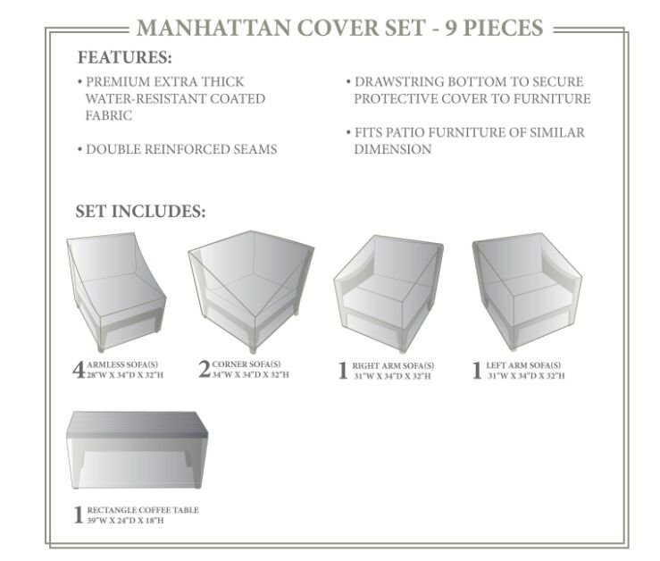 Manhattan Winter 9 Piece Cover Set