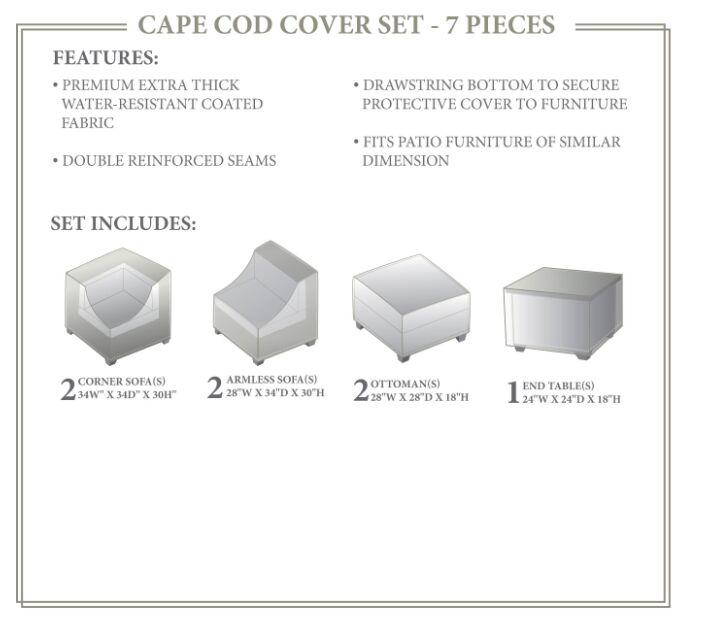 Cape Cod Winter 7 Piece Cover Set