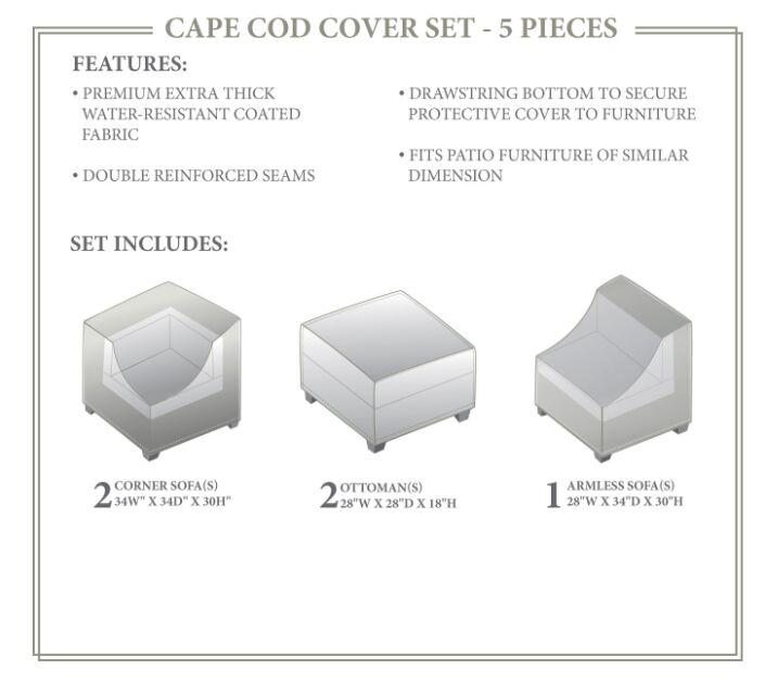 Cape Cod Winter 5 Piece Cover Set