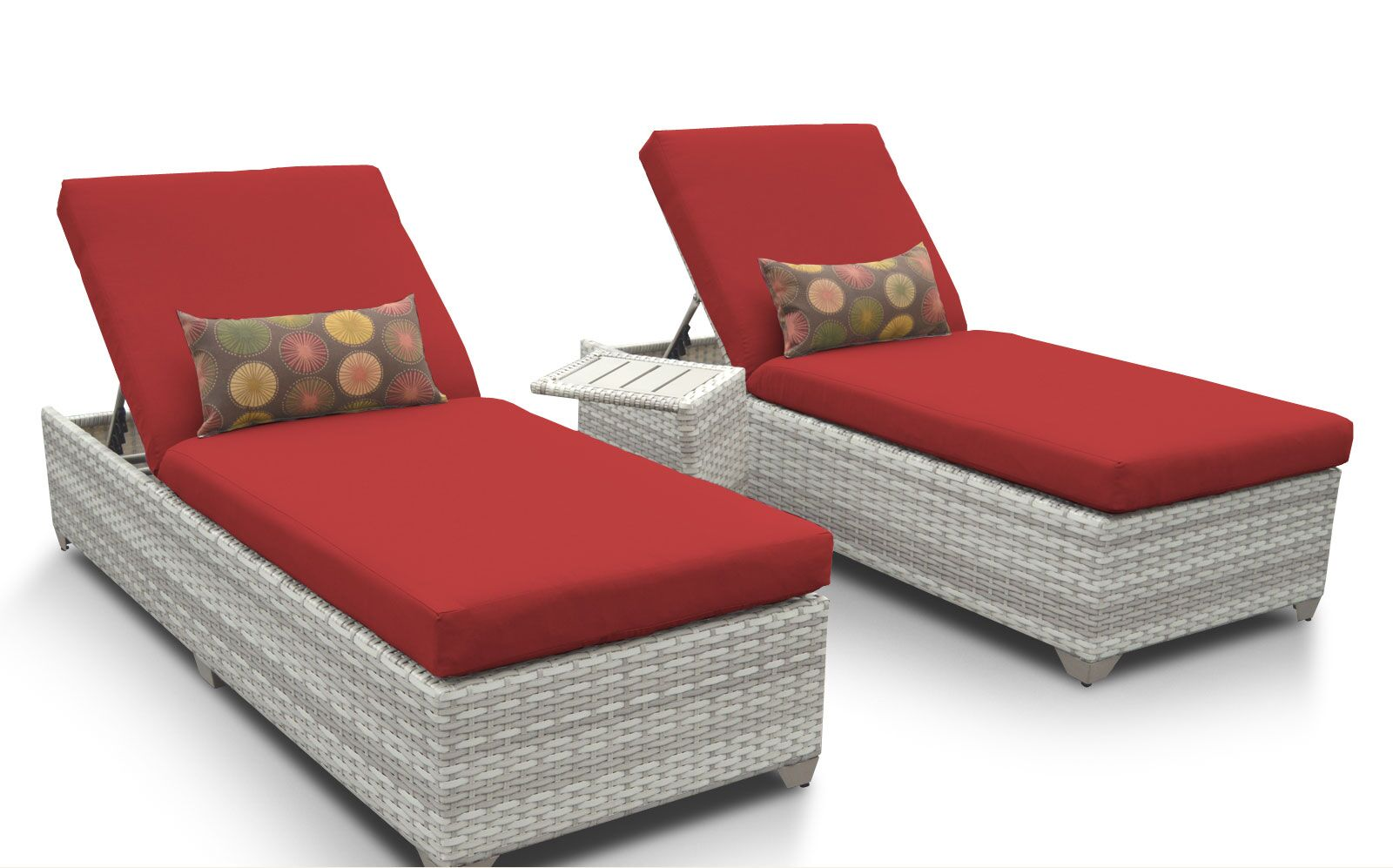 Ansonia 3 Piece Chaise Lounge Set with Cushion Color: Terracotta