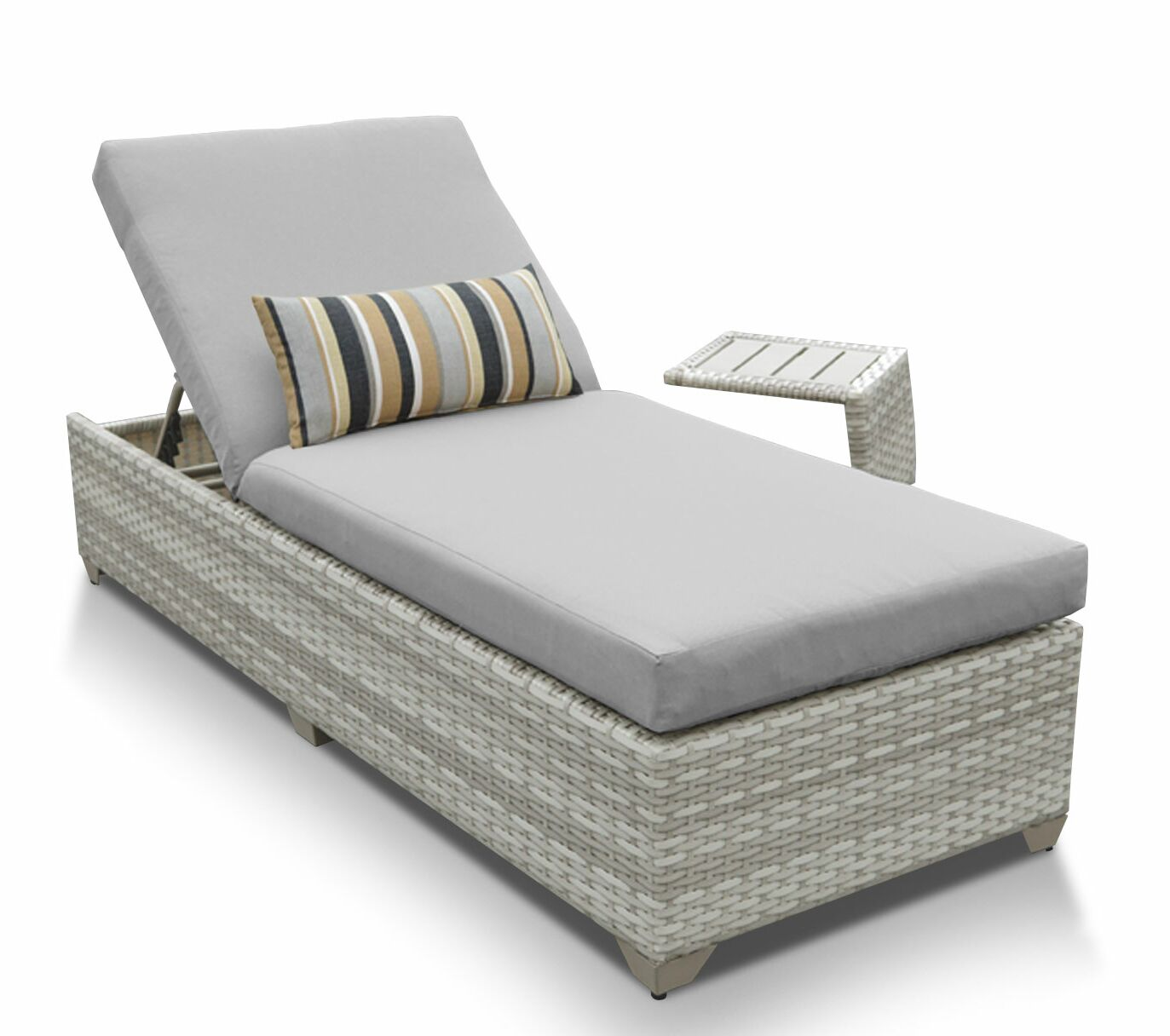 Ansonia 2 Piece Chaise Lounge Set with Cushion Color: Gray
