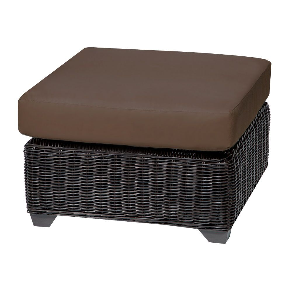 Eldredge Ottoman with Cushion Fabric: Cocoa