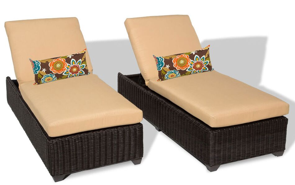 Eldredge Chaise Lounge with Cushion Color: Sesame
