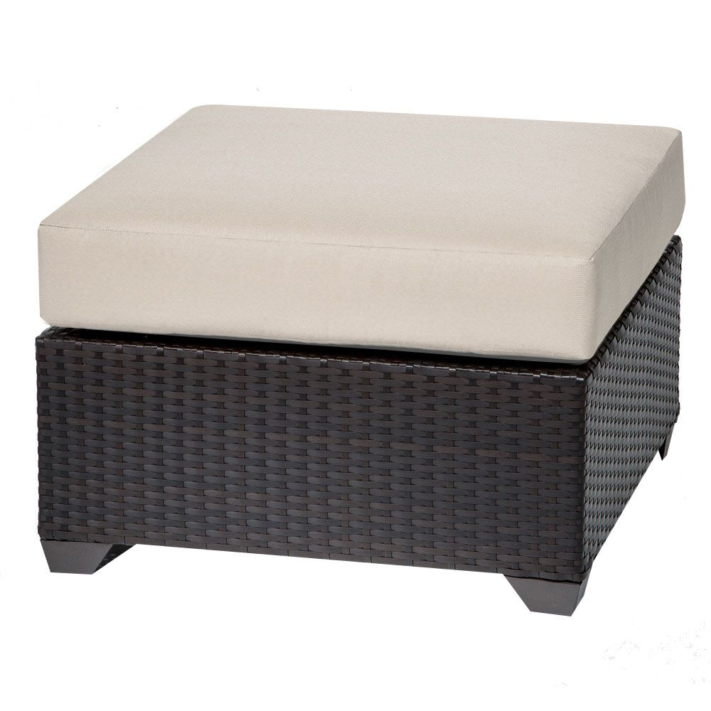 Barbados Ottoman with Cushion Color: Beige