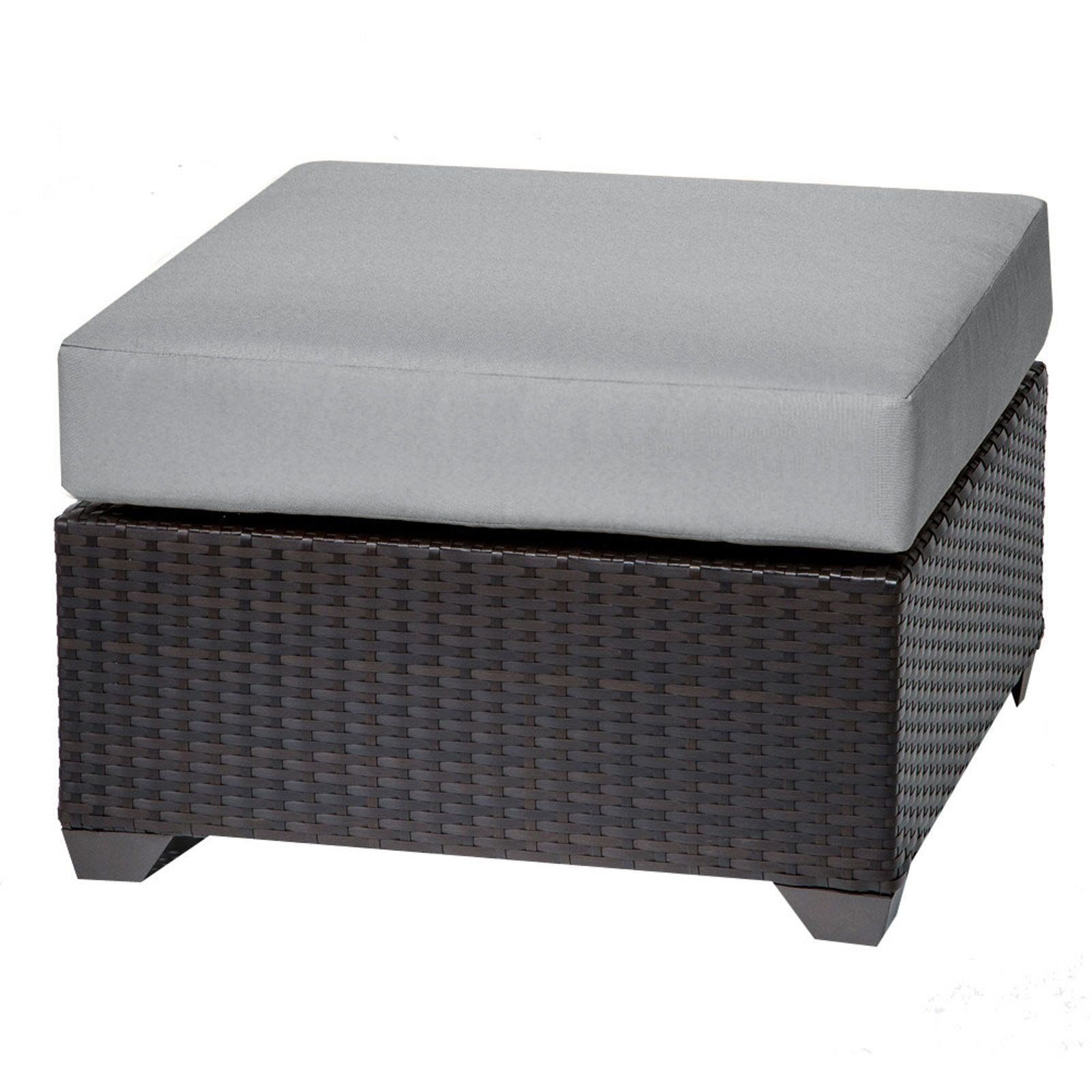 Barbados Ottoman with Cushion Color: Gray