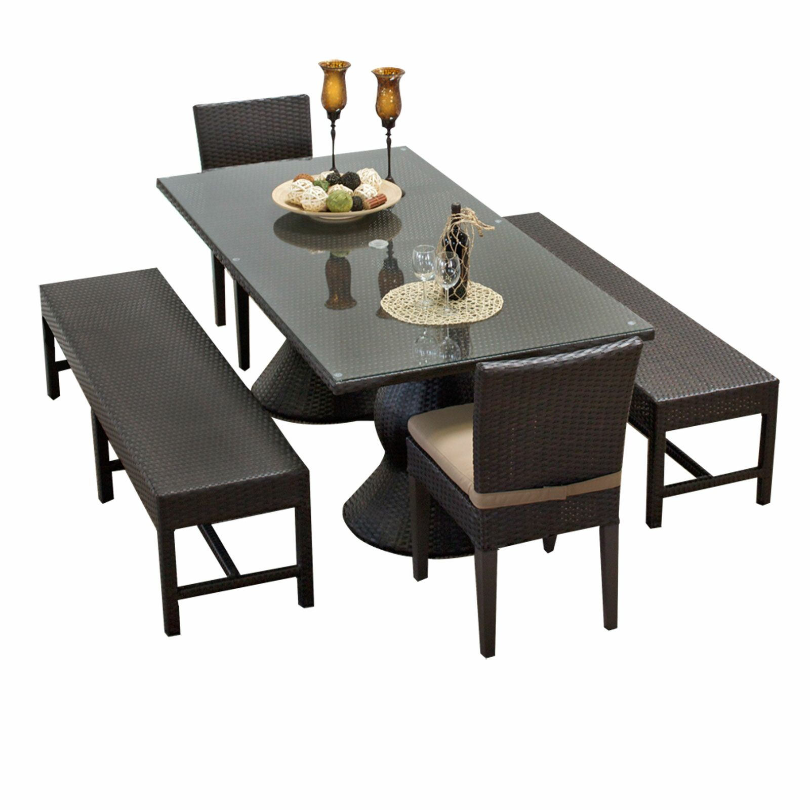 Napa 5 Piece Dining Set with Cushions Cushion Color: Wheat