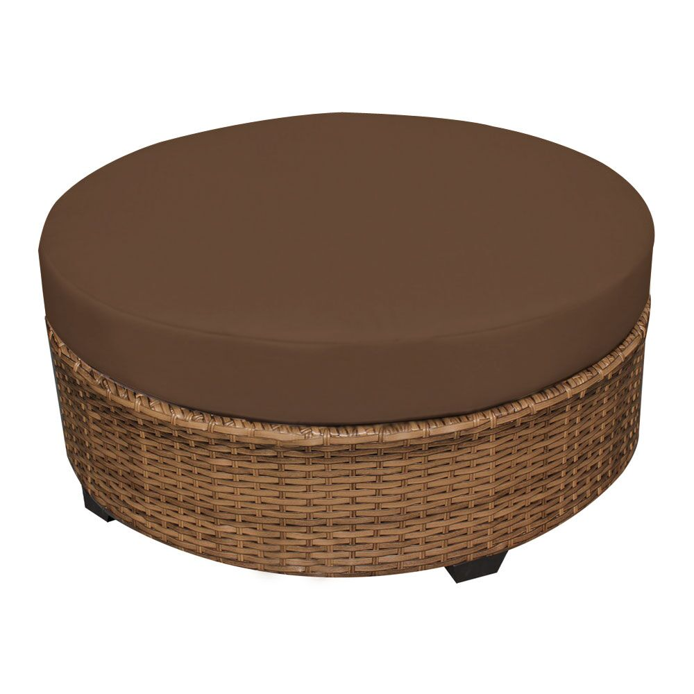 East Village Ottoman with Cushion Fabric: Cocoa