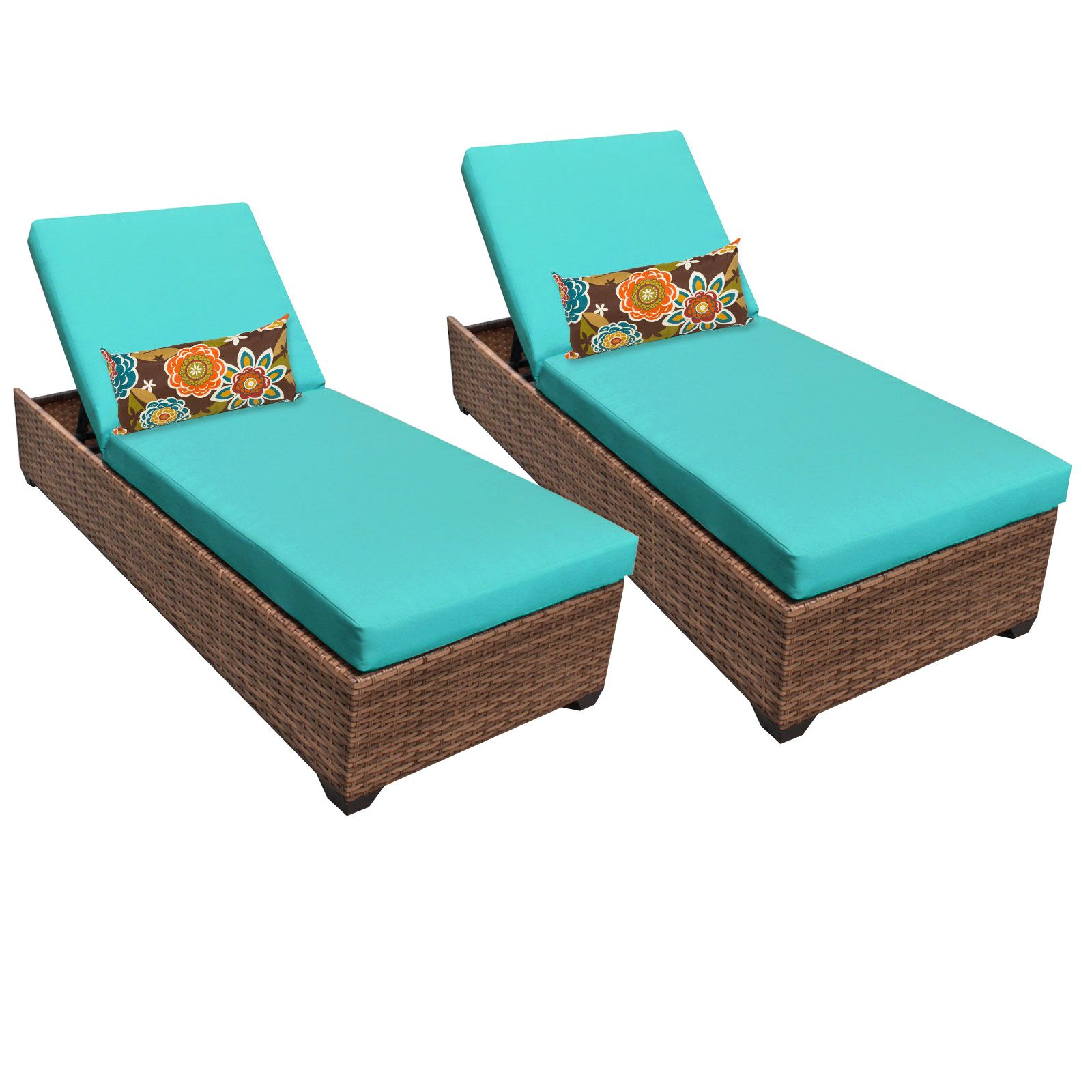 Asellus Chaise Lounge with Cushion Color: Aruba