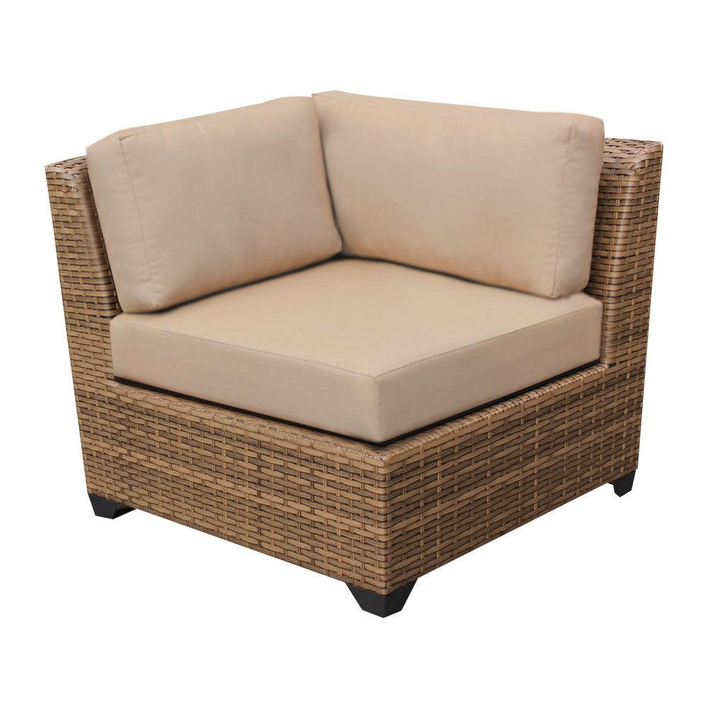 East Village 14 Piece Rattan Sectional Set with Cushions Color: Navy